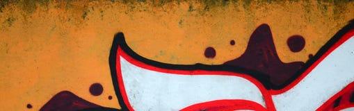 Czerep barwioni uliczni sztuka graffiti obrazy z konturami i podcieniowanie zamkni?ty w g?r? zdjęcie stock