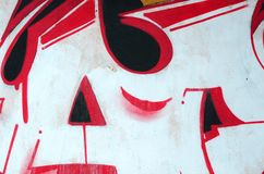 Czerep barwioni uliczni sztuka graffiti obrazy z konturami i podcieniowanie zamkni?ty w g?r? zdjęcia stock