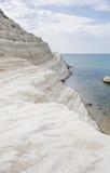 Czerep biała faleza dzwoniąca & x22; Scala dei Turchi& x22; w Sicily Zdjęcie Stock