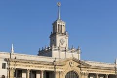Czerep budynek Krasnodar-1 stacja kolejowa fotografia royalty free