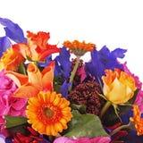 Czerep bukiet od kwiatów odizolowywających na białym tle. obrazy stock