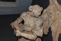 Czerep drewniana rzeźba Pinsel w Lviv, Ukraina zdjęcia royalty free
