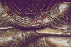 Czerep drewniana statua orientalny bóstwo Zdjęcia Stock