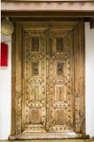 Czerep drewniany cyzelowanie na drzwi Zdjęcia Stock