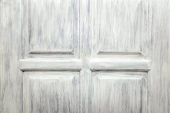 Czerep drewniany drzwi malowa? z bia?? farb? Dekoracyjna drewniana tekstura fotografia royalty free