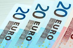 Czerep Euro banknoty zdjęcie royalty free