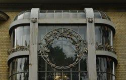 Czerep fasada dwór w sztuki Nouveau stylu Zdjęcia Stock
