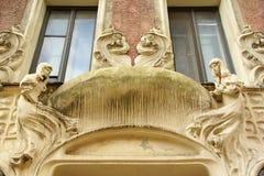 Czerep fasada mieszkanie dom w sztuki Nouveau stylu Obraz Royalty Free