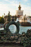 Czerep fontanna Kamienny kwiat Fotografia Stock
