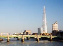 Czerep góruje nad Rzecznym Thames Londyn Obraz Royalty Free
