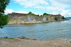 Czerep impregnable Suomenlinna fortyfikacje w Finlandia zdjęcia royalty free