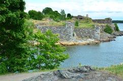 Czerep impregnable Suomenlinna fortyfikacje w Finlandia obraz royalty free