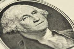 Czerep jeden dolarowy rachunek z portretem prezydent Obrazy Stock