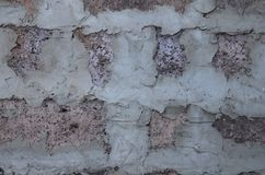 Czerep kamieniarstwo ściana dom żużlu blok, jeden kamienny gęsty zdjęcie stock