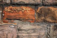 Czerep kamienna ściana Zdjęcia Royalty Free