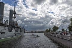 Czerep krążownik Bałtycka floty zorza w St Petersburg obraz royalty free