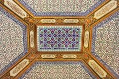 Czerep ornament w Topkapi pałac, Istanbuł, Turcja obrazy royalty free