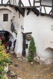 Czerep otręby kasztel, czternastego wieka kasztel, poprzednia królewska siedziba & rzekoma legenda Hrabiowska Dracula inspiracja  obraz stock