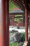 Czerep pavillon w Yuyuan uprawia ogródek, Szanghaj, Chiny Obraz Royalty Free
