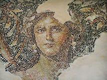 Czerep pi?kna antykwarska mozaiki pod?oga Archeologiczny Parkowy Zippori, Izrael obraz stock