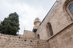 Czerep podwórze blisko grobowa królewiątko David w starym mieście Jerozolima, Izrael zdjęcie royalty free