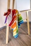 Czerep ręcznie robiony barwiący trykotowy szalik obrazy royalty free