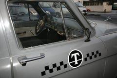 Czerep retro stary samochodowy Volga GAZ 21 taxi taksówka, USSR 1960 -/ Obraz Stock