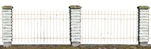 Czerep rocznik wioski ogrodzenie Zdjęcie Stock