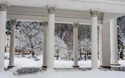 Czerep Rudolf pramen kolumnada w zimie zdjęcie royalty free