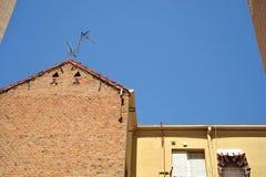 Czerep stary budynek mieszkalny w Madryt Fotografia Stock