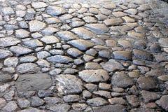 Czerep stary popielaty kamień brukował podłoga ulica fotografia stock