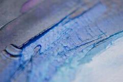 czerep Stubarwny tekstura obraz sztuki abstrakcjonistycznej tło Olej na kanwie Szorstcy brushstrokes farba Zbliżenie paintin fotografia stock