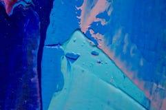 czerep Stubarwny tekstura obraz sztuki abstrakcjonistycznej tło Olej na kanwie Szorstcy brushstrokes farba Zbliżenie paintin zdjęcie royalty free