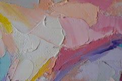 czerep Stubarwny tekstura obraz sztuki abstrakcjonistycznej tło Olej na kanwie Szorstcy brushstrokes farba Zbliżenie paintin fotografia royalty free