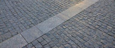 Czerep uliczny kwadrat, fałdowy z szarego kwadratowego pavin Zdjęcie Stock