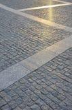 Czerep uliczny kwadrat, fałdowy z szarego kwadratowego pavin Obrazy Stock