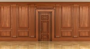 Czerep wnętrze klasyczni drewniani panel zdjęcie royalty free