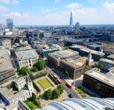 Czerepu budynek, Londyn od St Paul&-x27; s katedra obrazy royalty free