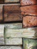 czerepu domowa stara szalunku ściana Zdjęcia Stock
