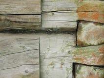 czerepu domowa stara szalunku ściana Fotografia Royalty Free