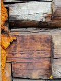 czerepu domowa stara szalunku ściana Fotografia Stock