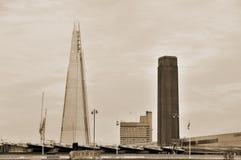 Czerepu Londyn most Zdjęcie Stock