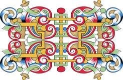 czerepu ornamentacyjny ortodoksyjny wzoru wektor Zdjęcia Royalty Free