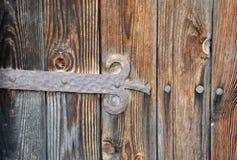 Czerepy drewniani drzwi Obraz Stock