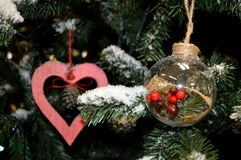 Czerepy nowego roku drzewo przeszłość nowego roku Zdjęcie Stock