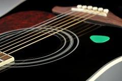 Czernić gitarę Zdjęcie Royalty Free
