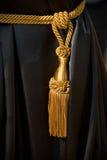 czernić złotą zasłony kitkę Fotografia Stock