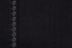 Czernić z bottons bawełnianą teksturę Obraz Royalty Free