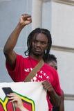 Czerni życia liczą się protestor podczas marszu na urzędzie miasta Obraz Royalty Free
