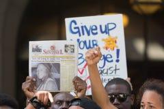 Czerni życia liczą się protestors podczas marszu na urzędzie miasta Zdjęcie Royalty Free